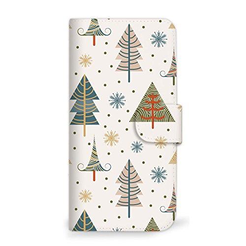 mitas iPhone5s ケース 手帳型 クリスマス 冬 ツリー C (73) SC-0331-C/iPhone5s