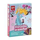 APLI Kids- Princesas Juego con Papel Metalizado Transferible, Multicolor (15267)