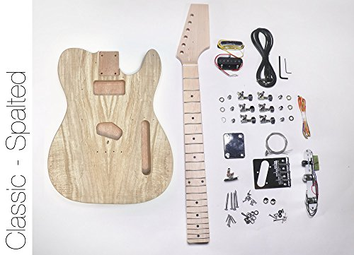 The Fretwire Spalted Tele DIY Electric Guitar Kit