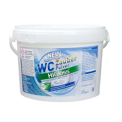 HiGloss WC Zauber-Pulver OCEAN, 2,5kg