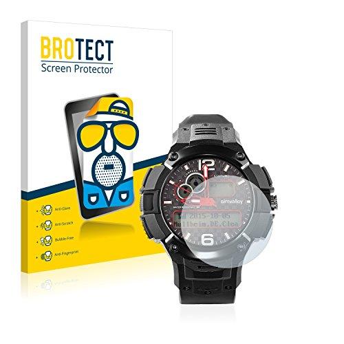 BROTECT 2X Entspiegelungs-Schutzfolie kompatibel mit Simvalley Mobile MOT-15.G Bildschirmschutz-Folie Matt, Anti-Reflex, Anti-Fingerprint
