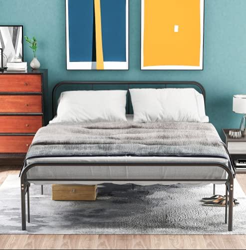 Einfacher Metallbettrahmen, Single Bett Kopf und Fuß, Schlafzimmerbett für Kinder, Jugendliche und...