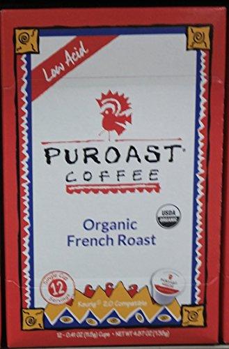 Puroast Coffee Low Acid Organic French Roast 12 ct K-Cups (Pack of 1)