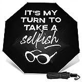 Ew David-Ro-se Schitts-Creek - Paraguas plegable manual, resistente al viento, ligero, antiUV, para hombres y mujeres, paraguas plegable portátil