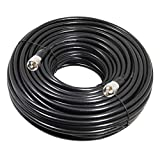 RG8x Coaxial Cable 100 ft, CB Coax Cable, RFAdapter UHF PL259 Male to