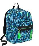 Zaino scuola Outsize SEVEN - AVIUM - Blu e verde fluo - 33 LT - SUPPORTO USB