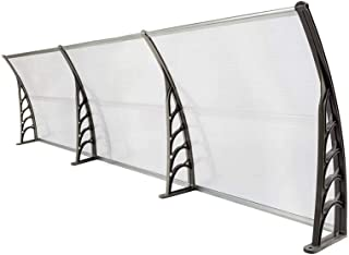 Binlin Patio Awnings,118x40 Window Awning Modern Polycarbonate Cover Front Door Outdoor Patio Canopy Sun shetter UV Rain Snow Protection