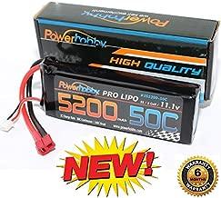 PowerHobby 3S 11.1V 5200mAh 50C Lipo Battery Pack w Deans Plug 3-Cell Fits : Assocated Hpi Savage Vorza E10 Rs4 Blitz Arrma Kraton Typhon Duratrax