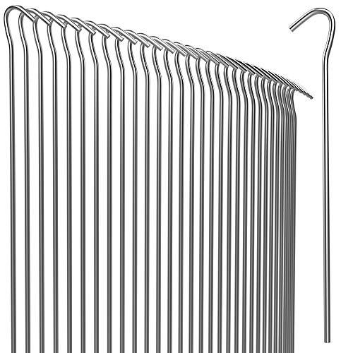 Gardebruk Heringe 50er Set Stahl verzinkt Erdanker Erdnagel Campingzubehör (20cm, Ø 3,5mm) witterungsbeständig Zeltheringe