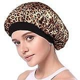 Simoda Schlaufhaube aus Satin, Blumenmuster, für lockiges Haar, elastisches Band, Haarpflege Gr. M, #3