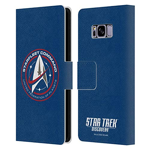 Head Case Designs Officially Licensed Star Trek Discovery Starfleet Badges Leather Book Wallet Case Cover Compatible with Samsung Galaxy S8