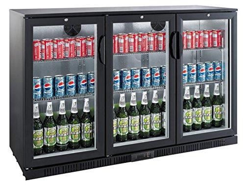 Flaschenkühlschrank mit 0Klapptüren Kühlschrank Getränkekühlschrank Gewerbekühlschrank 300 Liter
