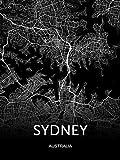 Moderne Leinwand Kunst Australien Karte Sydney Brisbane