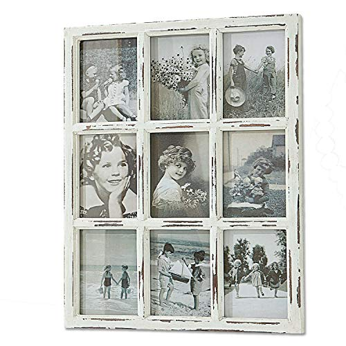 Loberon Bilderrahmen Vira, Tannenholz/Glas, H/B/T ca. 65/53 / 2,5 cm, antikweiß
