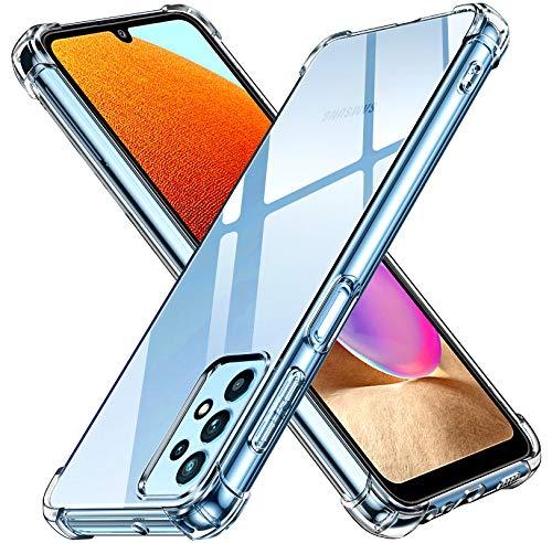 iVoler Cover per Samsung Galaxy A32 4G, Custodia Trasparente per Assorbimento degli Urti con Paraurti in TPU Morbido, Sottile Morbida in Silicone TPU Protettiva Case