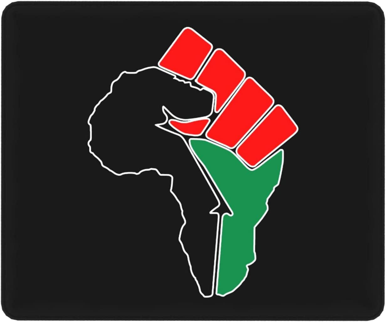 BlackPower Fist Pan African Colors Non-Slip Mouse Pad Flag0 Super sale period limited Max 52% OFF Ru