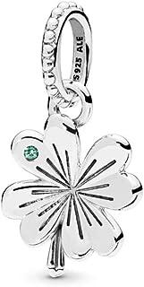 Lucky Four-Leaf Clover 925 Sterling Silver Pendant - 397965NAG