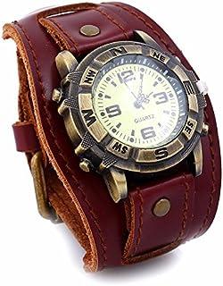 Vintage Cow Men Women Leather Bracelet Watch Women Wrist Watches Casual Quartz Watch