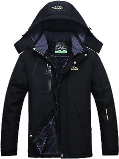 Men's Mountain Jacket Waterproof Ski Jacket Windproof Coat Warm Winter Snow Rain for Hiking Camping Outwear