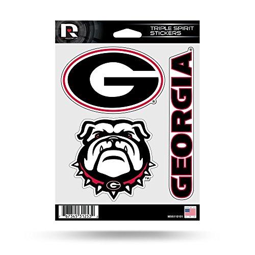 NCAA Georgia Bulldogs Die Cut 3-Piece Triple Spirit Sticker Sheet