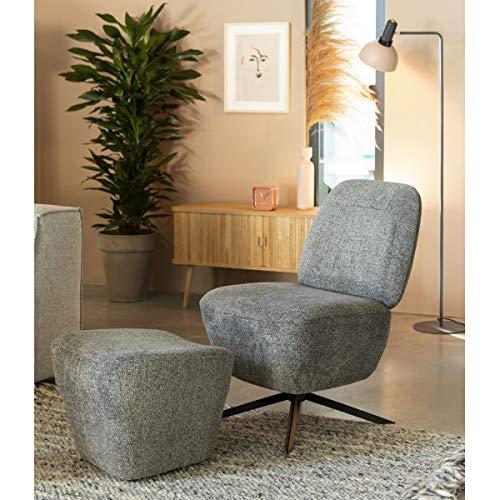 Zuiver Dusk stoel en voetensteun, lichtgrijs