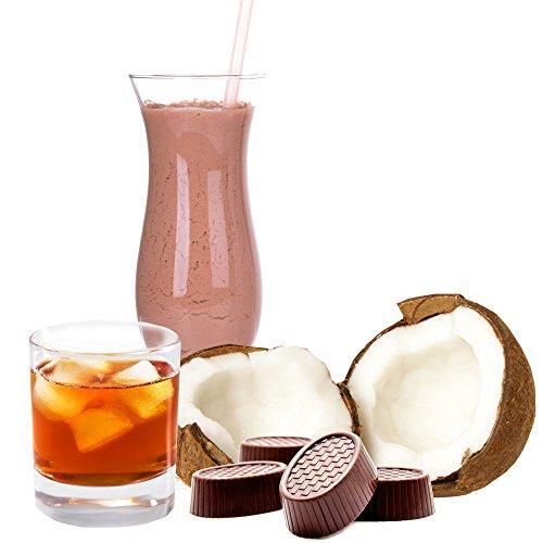 Kokos Rum Praline Molkepulver Luxofit mit L-Carnitin Protein angereichert Wellnessdrink Aspartamfrei Molke (Kokos Rum Praline, 1 kg)