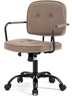 【Amazon.co.jp限定】Hinces by OSJ デスクチェア かーきーPUレザー肘掛け椅子 キャスター付き 360度回転 上下昇降機能ルミナムチェア 幅44×奥行60×高さ85-90cm PP194773CAA