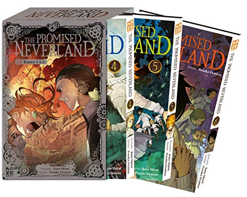 The Promised Neverland : Pack en 3 volumes : Tome 4, Vivre ; Tome 5, L'évasion ; Tome 6, B06-32 : Avec 3 cartes exclusives