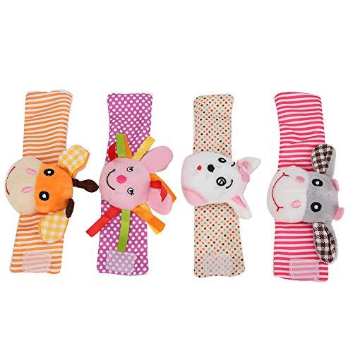 【𝐏𝐫𝐨𝐦𝐨𝐜𝐢ó𝐧 𝐝𝐞 𝐒𝐞𝐦𝐚𝐧𝐚 𝐒𝐚𝐧𝐭𝐚】 Ejercicio de alta calidad flexibilidad de los dedos Sonajeros de muñeca para bebés, muñequeras de sonajero saludables y no tóxicas, Festival de Pascua
