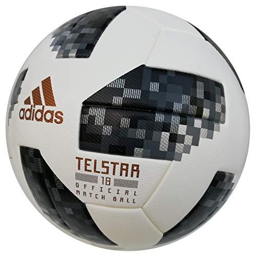 adidas Balón de juego profesional de fútbol Telstar Mundial 2018, aprobado por la FIFA, 5,