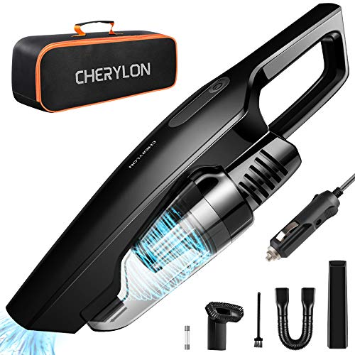 CHERYLON Car Vacuum, Portable Car Vacuum Cleaner High Power 150W/8000Pa,16.4-Foot Cable,12-Volt Wet/Dry Handheld Vacuum Cleaner for Car Detailing and Cleaning Car Interior