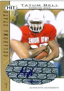 Tatum Bell autographed Football Card (College Football, Oklahoma State) - NFL Autographed Football Cards