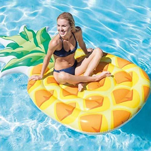 ASDFG - Alfombrilla hinchable para piscina y piña, tamaño grande