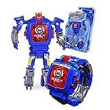 Liebye 電子変形腕時計 創造的なマニュアル変換ロボット玩具子供の電子時計インテリジェンス開発変形ロボット玩具 C889靑い方を