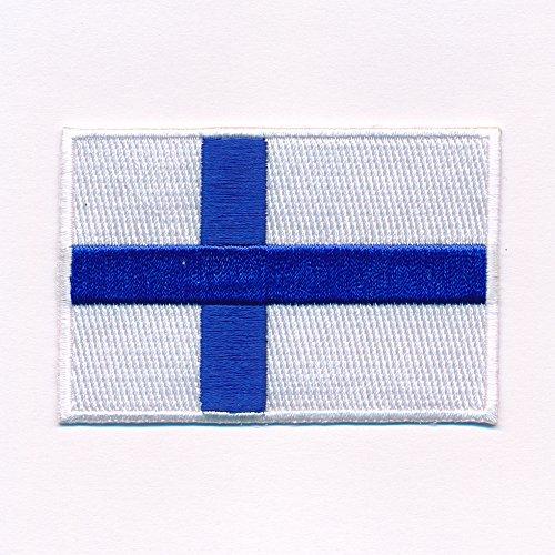 hegibaer 60 x 35 mm Finnland Flagge Helsinki Finland Flag Aufnäher Aufbügler 0638 B