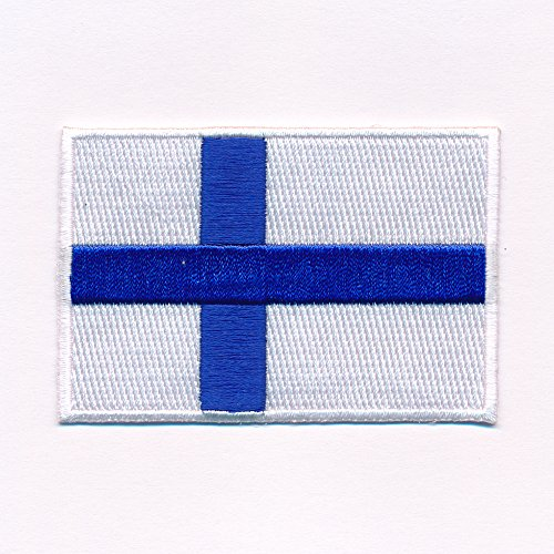 80 x 50 mm Finnland Flagge Helsinki Finland Flag Aufnäher Aufbügler 0638 X