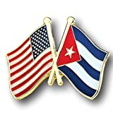 Backwoods Barnaby American Cuban Crossed Friendship Flags Lapel Pin