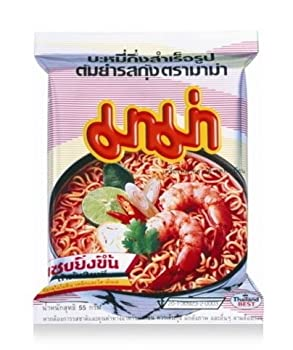 Instant Mama Noodles Shrimp Tom Yum Flavor - Pack of 10