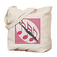 CafePress Fun Flute Gift Natural Canvas Tote Bag, Reusable Shopping Bag