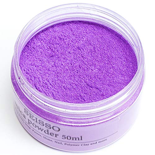 Lavender Purple Mica Powder for Epoxy Resin 1.7 oz /50g Powdered Pigment for Soap Colorant Bath Bomb Dye, Cosmetic Grade for Lip Gloss, Acrylic Nails Polish, Craft Projects