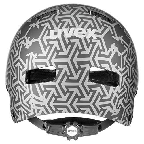 uvex Unisex Jugend, kid 3 cc Fahrradhelm, black, 51-55 cm - 3