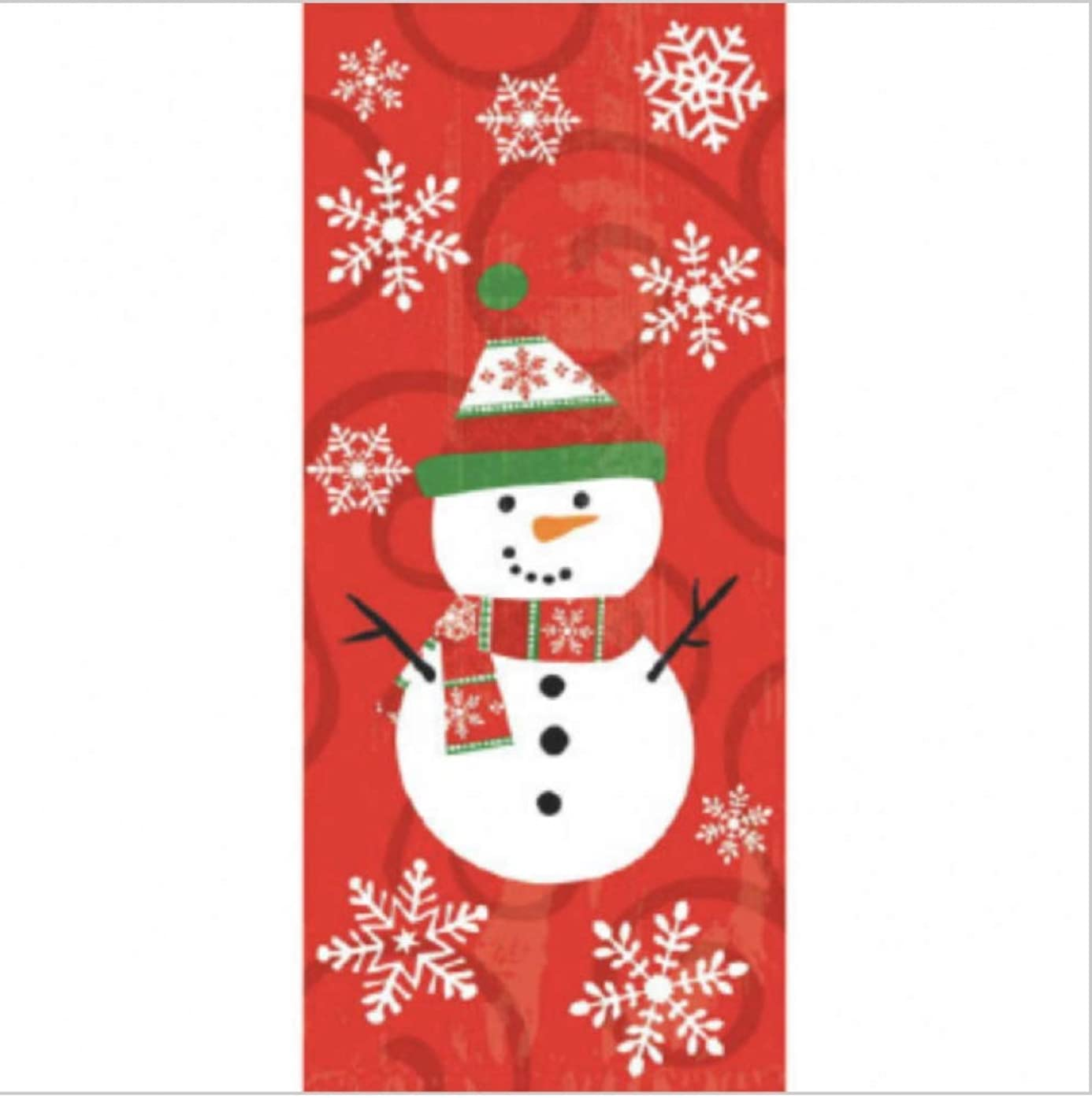 Snowman Cello Bags Set (20 Large and 20 Small)