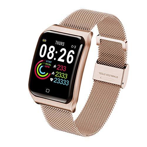 Smart Band armband horloge Smartband Bloeddruk Oxygen Oximeter hartslagmeter Stappenteller Fitness Tracker,Gold
