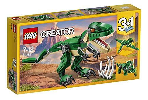 LEGO 31058 Creator Dinosaurier, 3-in-1 Modell: T-Rex, Triceratops oder Pterodactylus, Konstruktionsspielzeug