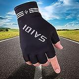 WI Unisex-Halbfingerhandschuhe Atmungsaktive Outdoor-Fitness- und Kletterhandschuhe,Schwarz,Einheitsgröße