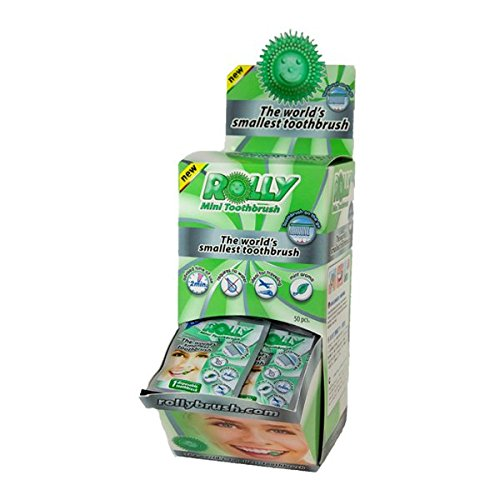 Rolly Disposable toothbrush: Einweg Zahnbürste - Pfefferminze - 50 einzelne Beutel - RB1076