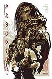 Predator 1987 Sci-Fi Movie Film Metal Tin Sign Poster Wall Plaque,Vintage Metal Pub Club Cafe bar Home Wall Art Decoration Poster Retro 8x12 inches