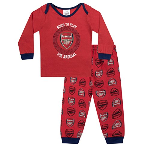 Arsenal FC Official Soccer Gift Boys Kids Baby Pajamas 0-3 Months Red
