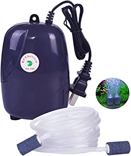 Beauenty Ultra Quiet Aquarium Air Pump Dual Outlet, Fish Tank Aerator Pump with Accessories,Fish Tank Oxygen AirPump With ...