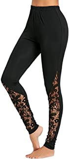 Sunnywill Damen Hosen Yoga Hosen Damen Sommer Sport Stretch Slim Fit High Waist Skinny Elastic Pants Trousers Jogging Elegan Spitze